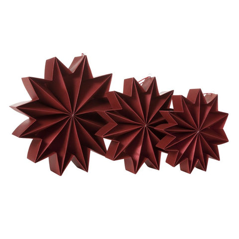 Pleat stars - Dark Red