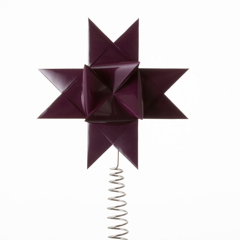 Purple painted tree topper star L