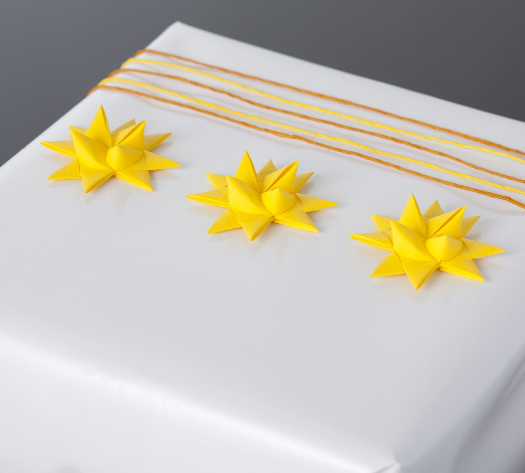 Yellow half star with tape S - 12 pcs