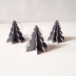 Christmas tree Gray - 3 pcs