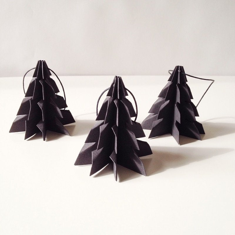 Christmas tree Black - 3 pcs