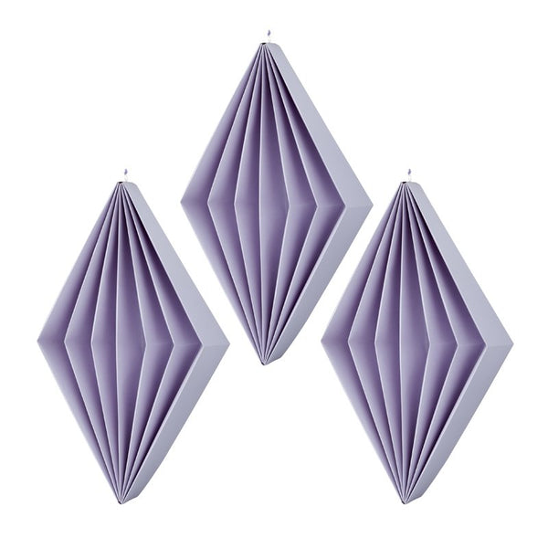 Paper diamonds Lilas S - 3 pcs
