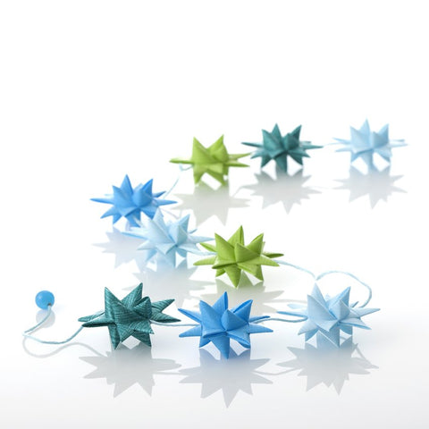 Lime & Turquiose star garland no 22
