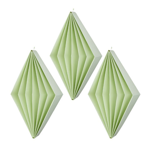 Paper diamonds Green S - 3 pcs