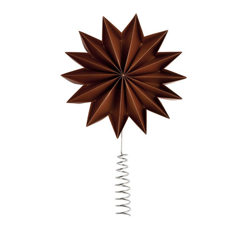 Copper - Pleat tree topper star - X-Giant