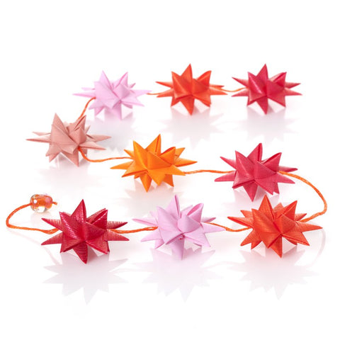 Pink & Orange - star garland no 3