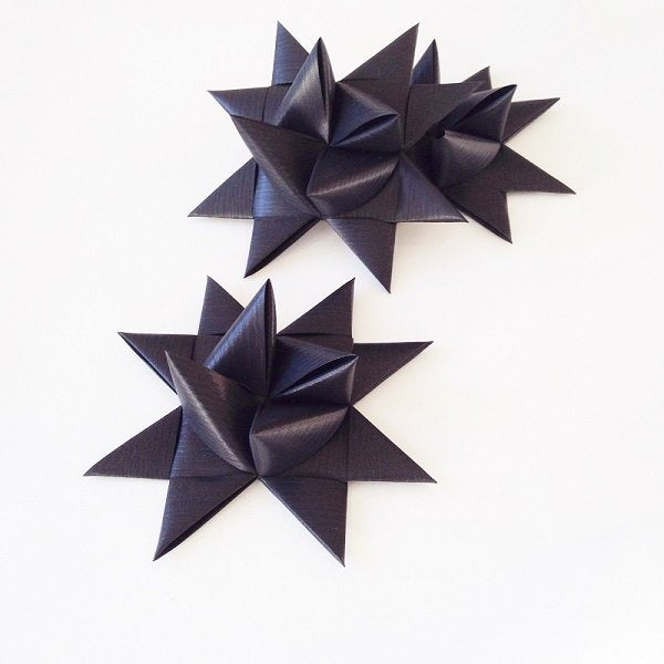 Black half star with tape L - 3 pcs