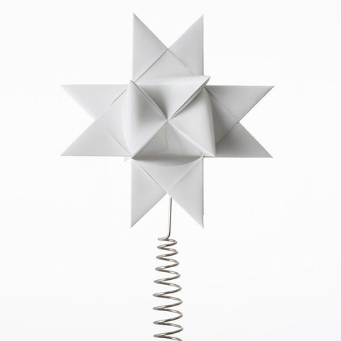 White painted tree topper L