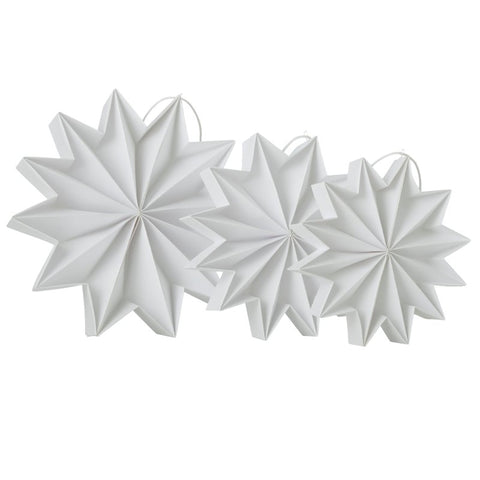 Pleat stars - White