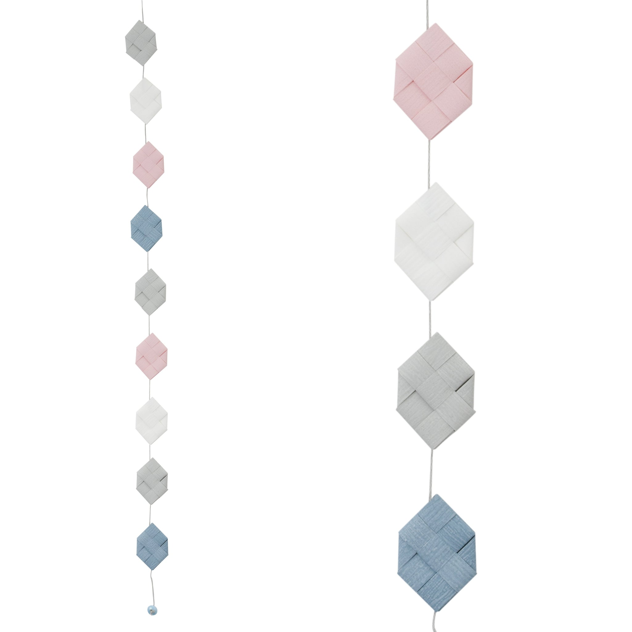 Pastel Gray & Gray Blue prism garland no 16
