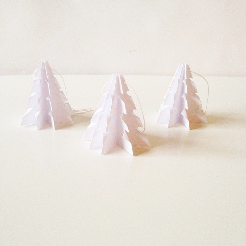 Christmas tree  White - 3 pcs
