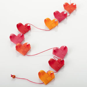 Red & Orange - Heart garland no 9