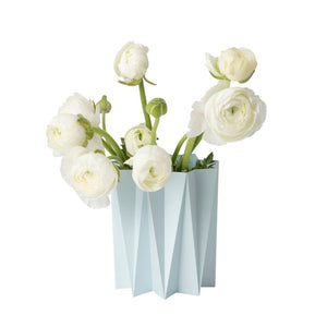Origami cover vase - Damask Blue M - 2pcs