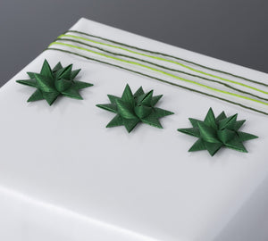 Green half star with tape S - 12 pcs