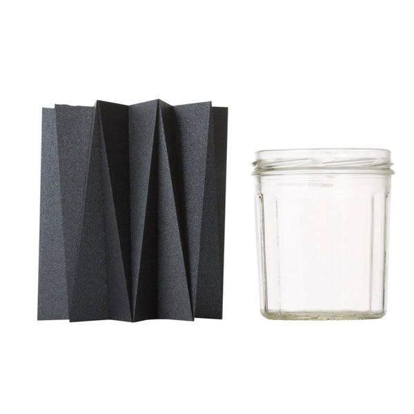 Origami cover vase - Black M - 2 pcs