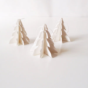 Christmas tree Raw white - 3 pcs