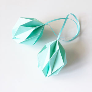 Mint origami easter eggs - 2 pcs