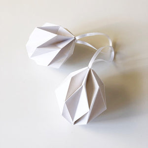 White origami easter eggs - 2 pcs