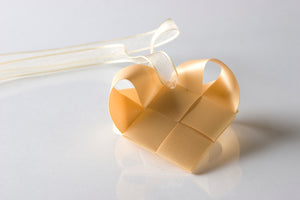 Gold translucent heart S  - pcs
