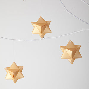 Gold translucents cube stars - 2pcs