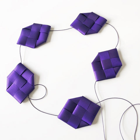Purple prism garland M - Easter decoration