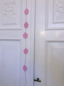 Pink prism garland M - Easter decoration