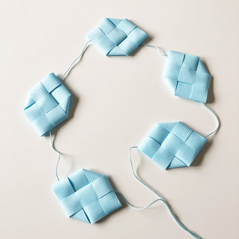Soft Blue prism garland M - Easter decoration