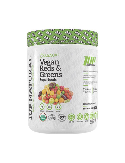 1Up Natural Vegan Reds & Greens Superfoods - Muscle X