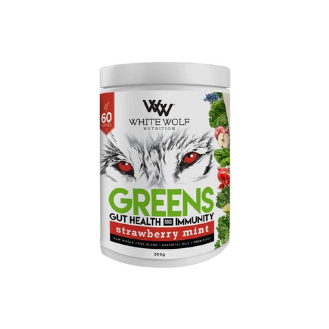 White Wolf Nutrition Greens + Gut Health & Immunity - Muscle X