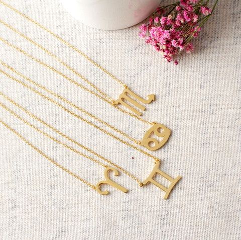 18k Gold Plated 🌟 Zodiac Sign Pendant Necklace