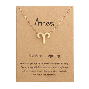 aries necklace, zodiac necklace