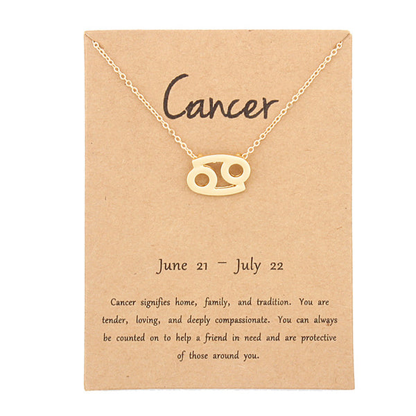 cancer necklace, zodiac necklace