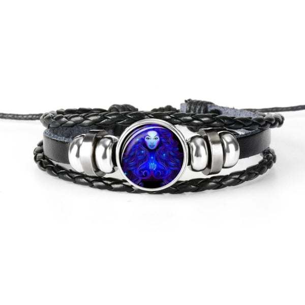 Zodiac Sign Charm Bracelet | Glass Dome 3D Zodiac Sign