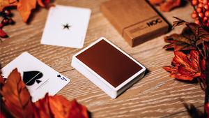 LIMITED NOC on Wood (Brown) Playing Cards