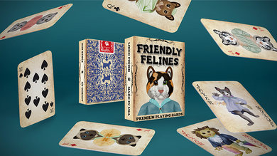 Friendly Feline Playing Cards Printed by USPCC