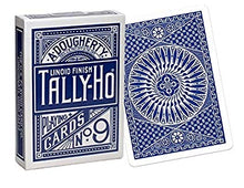 Load image into Gallery viewer, Tally Ho Circle Back Blue Playing Cards