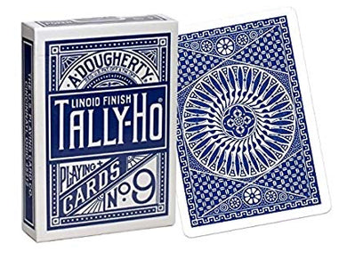 Tally Ho Circle Back Blue Playing Cards