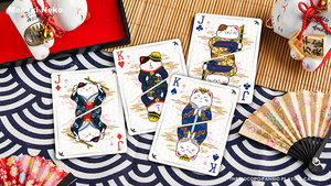 Bicycle Maneki Neko (Blue) Playing Cards
