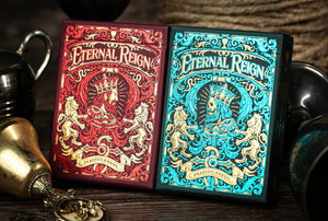 1 of 2000 Eternal Reign Ruby and Saphire 2 Decks by Riffle Shufle (Featured Product)