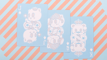 Load image into Gallery viewer, Bicycle Lovely Bear Cards - Light Blue (Limited Edition)