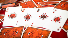 Load image into Gallery viewer, Bicycle Guilded Limited  to 400 Lady Bug Red Playing Cards