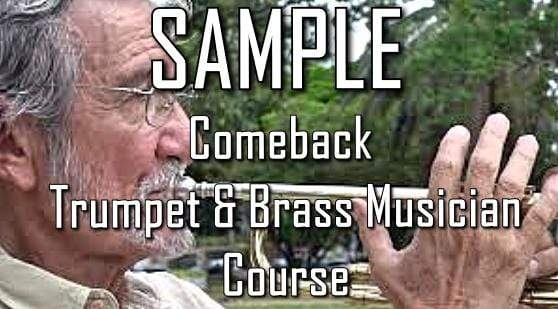 older male trumpet player