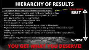 "2019 Revised 16 Week Upper Register Course ""FULL COURSE"" 16 Lessons ""Live"" with Kurt - Trumpetsizzle"