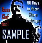 Sample the 90 Days to Razor Sharp Technique - Efficient Herbert L. Clarke Course for Trumpet and all Brass Players! - Trumpetsizzle
