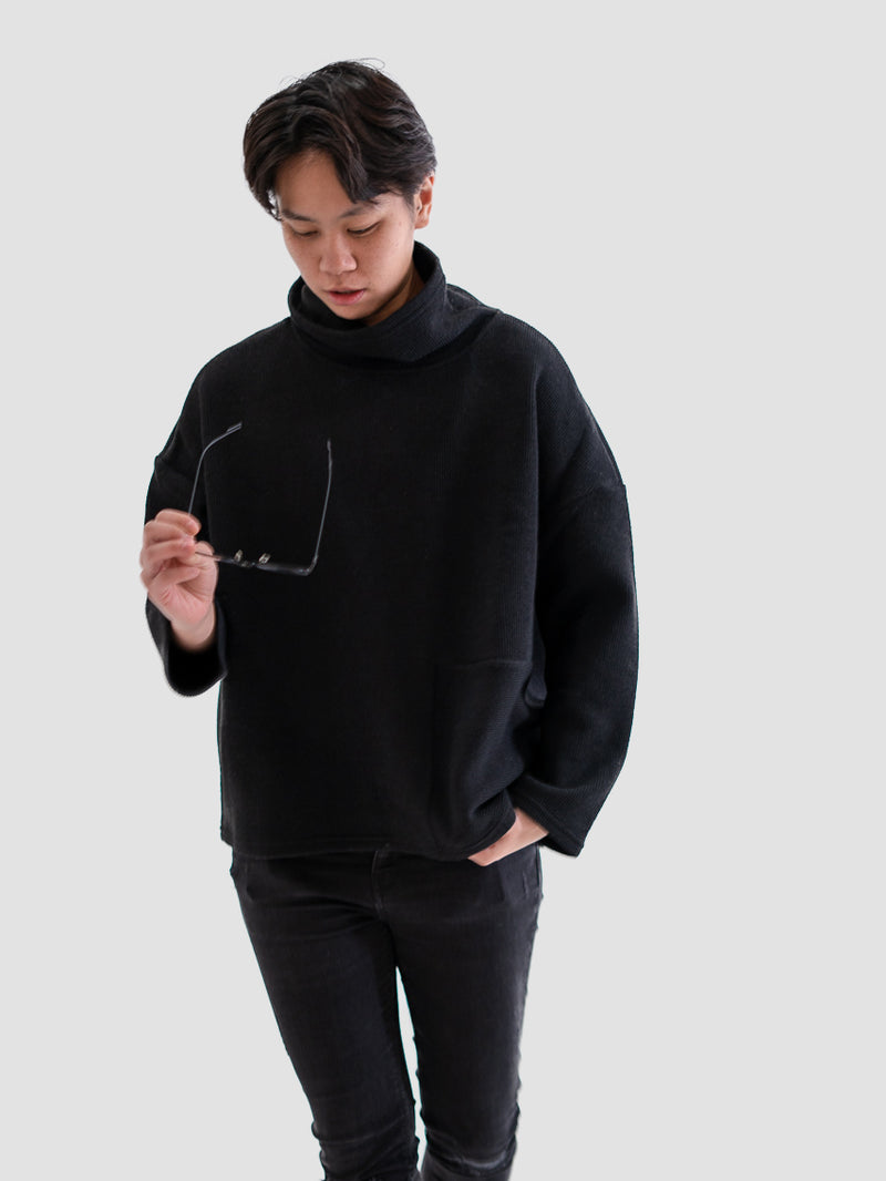 Secret Agent Turtleneck in Black