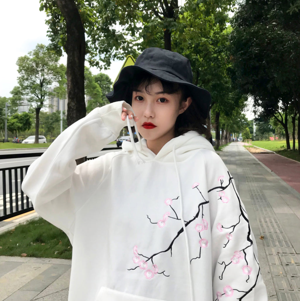 Cherry Blossom Hoodie in White