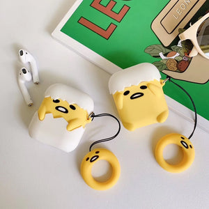 """Oh, no!"" Lazy Egg AirPods Case"