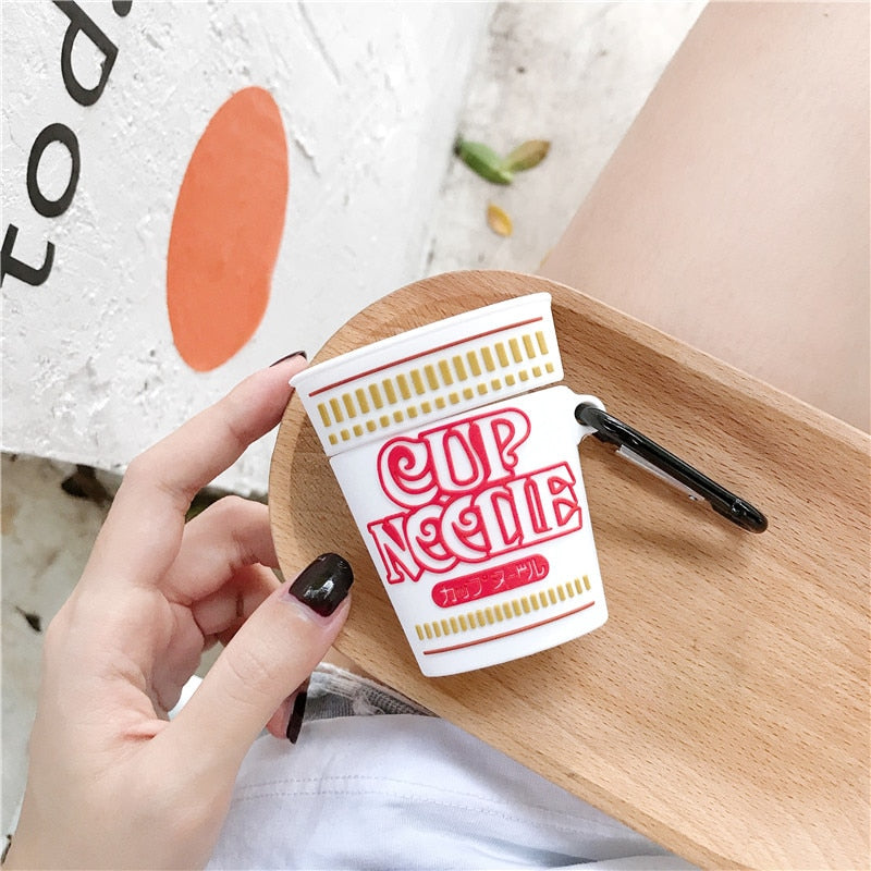 Cup Noodle Silicone AirPods Case