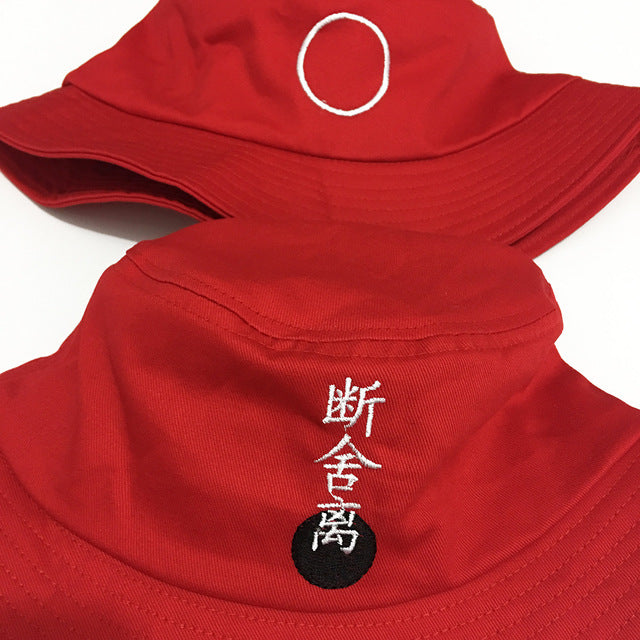 Japanese Embroidered Retro Bucket Hat