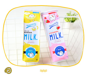 Cartoon Milk Pencil Cases